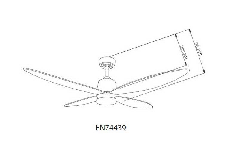Schéma stropní ventilátor aireryder fn74439 stratus