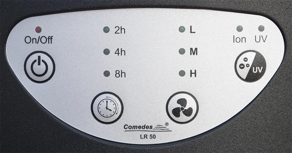 Čistička vzduchu Comedes LR 50 - ovládací panel
