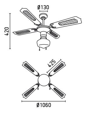 FARO 33121 schéma - stropní ventilátor