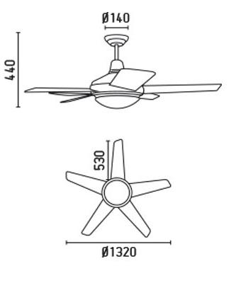 Faro 33135 schéma - stropní ventilátor