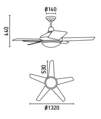FARO 33136 schéma - stropní ventilátor