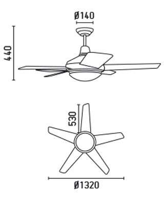 FARO 33137 schéma - stropní ventilátor