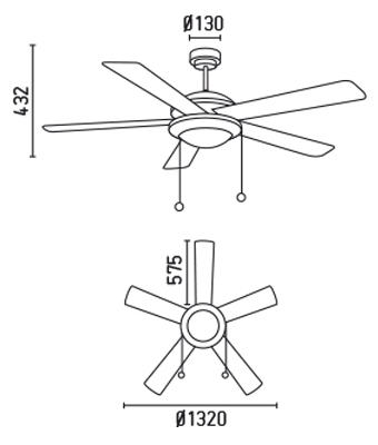 FARO 33192 schéma - stropní ventilátor