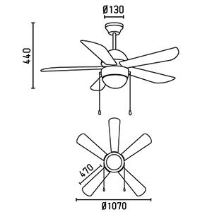 FARO 33319 schéma - domácí ventilátory