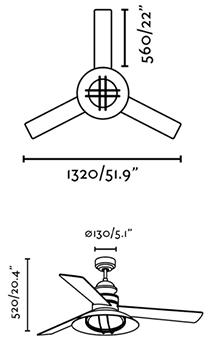 FARO 33396 schéma - stropní ventilátor se světlem