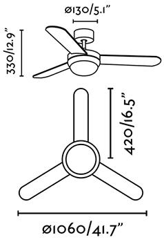 FARO 33600 schéma - stropní ventilátor se světlem