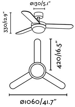 FARO 33601 schéma - stropní ventilátor