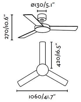 FARO 33603 schéma - stropní ventilátor bez světla