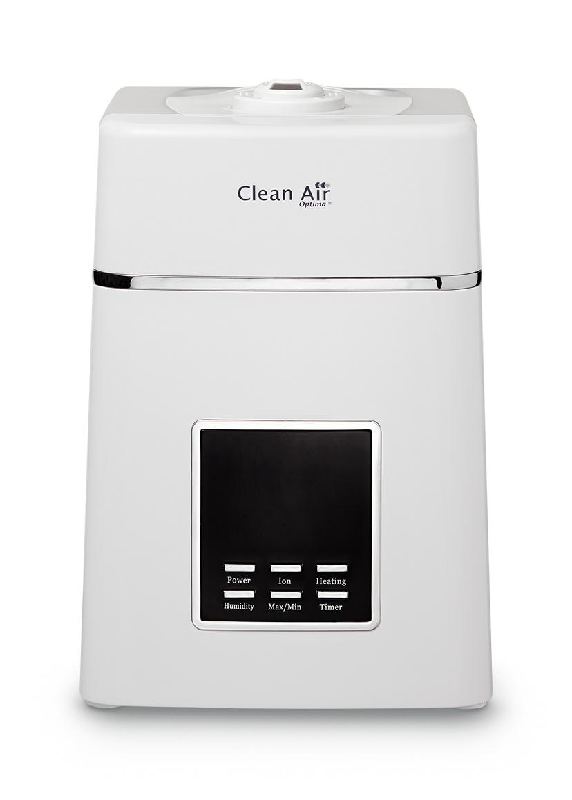 Bílý ultrazvukový zvlhčovač vzduchu s ionizátorem Clean AIr Optima CA-604